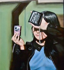 Girl With Pink Camera